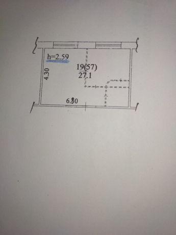 Продаеться комната в общежитии 27.1 кв.м возле м.Лесная