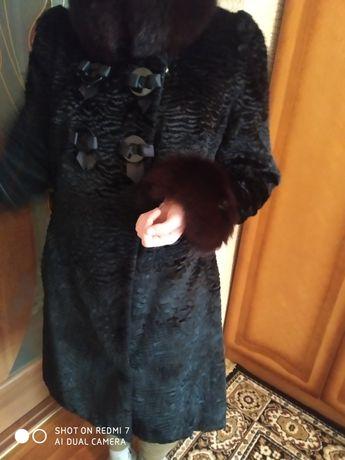 Пальто шубка натуральный мех песец