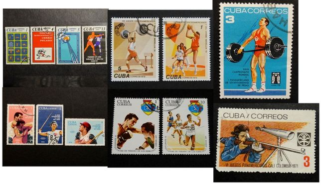 Znaczki pocztowe. Cuba sport luzaki kasowane bez podlepki od 2 zł