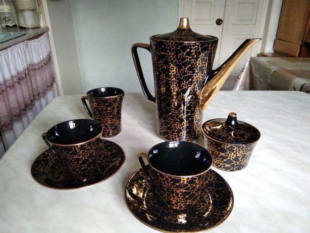Фарфоровый кофейный сервиз Польша CHODZIEZ - 9 предметов