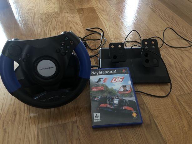 Pedais e volante PlayStation 2