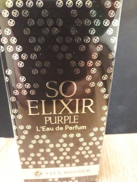 NOWE zafoliowane Perfumy Yves Rocher, So Elixir Purple