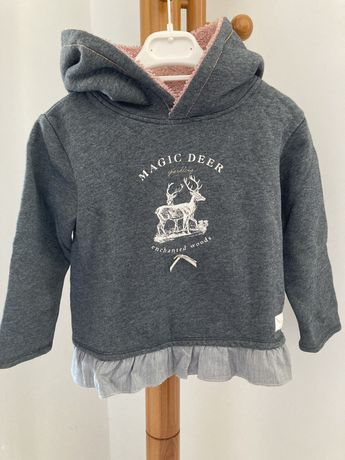 Sweatshirt hoodie quente de menina 4 anos Lanidor
