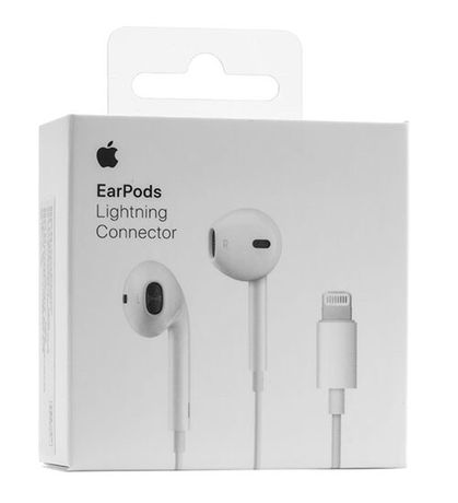 •New наушники Apple EarPods Lightning With Remote And Mic Оригінал •
