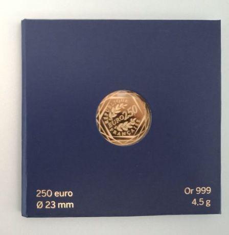 Zlota moneta (999) 250 Euro Francja - Kogut z 2014 r.