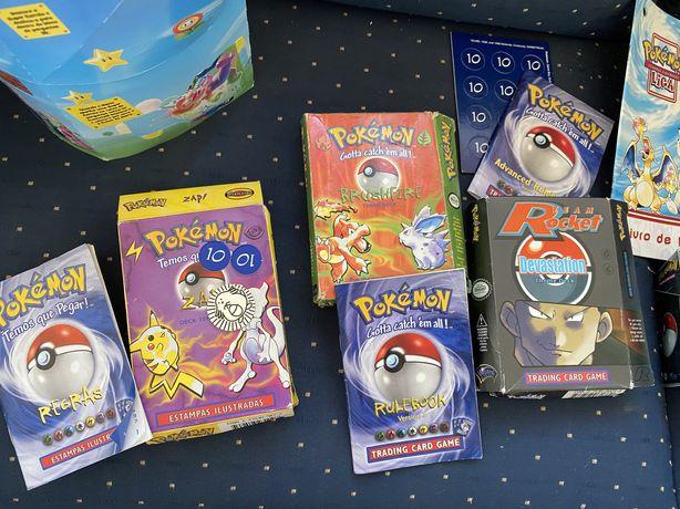 Pokemon cartas antigas lote trading cards card game estampas tazos