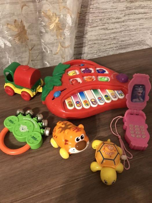 Набор игрушек музыкальное пианино телефон Украинка - изображение 1