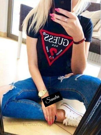 Koszulka Damska Guess Tommy CK czarna biała S M L XL Bluzka tanio