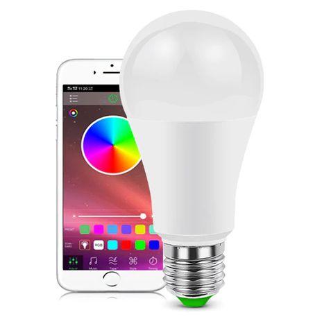 Lampada RGB Bleouthoo muda1 de cores através do telemóvel