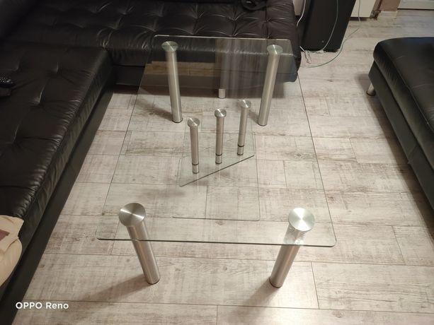 Sprzedam ławę szklana na konstrukcji metalowj