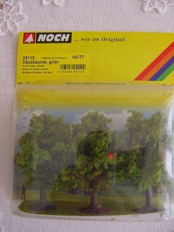 Drzewka na makietę: 3 drzewka owocowe 8cm - NOCH 25110