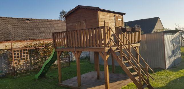 Duży Domek Drewniany