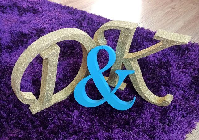 Inicjały ślubne D & K