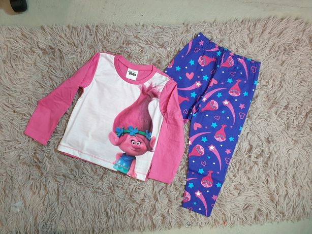 Piżama nowa spodnie bluzka r. 98 Trolls