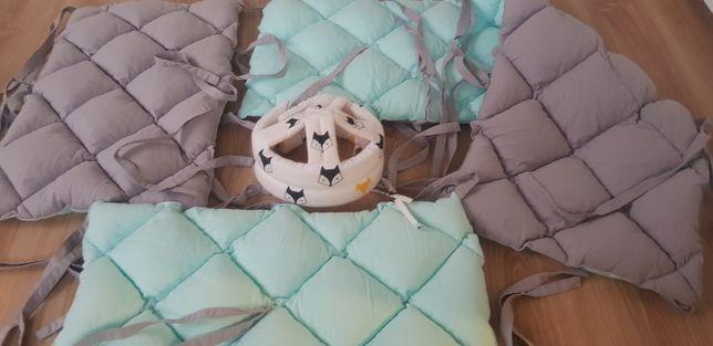 Бортики на кроватку Happy spaces, состояние новых! + подарок!