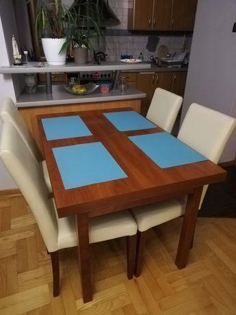 Stół vox,  126 x 85, rozkładany ,4 krzesła , komplet