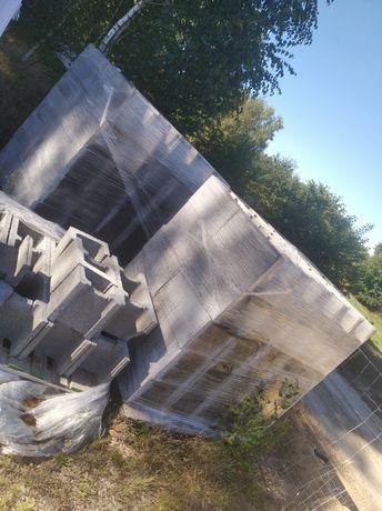 Pustaki szalunkowe fundamentowe betonowe, zalewowe na piwnice, 110 szt
