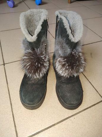 Дитячі зимові чоботи, з натуральною бавовною
