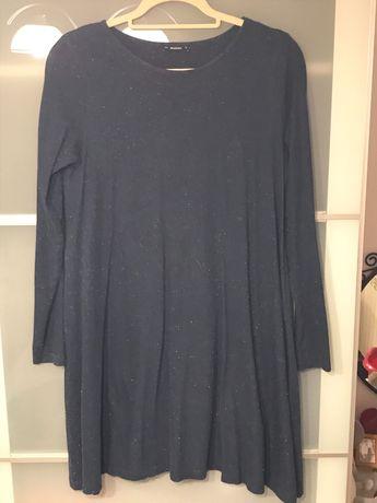 Granatowa sukienka Medicine, oversize, rozmiar 36
