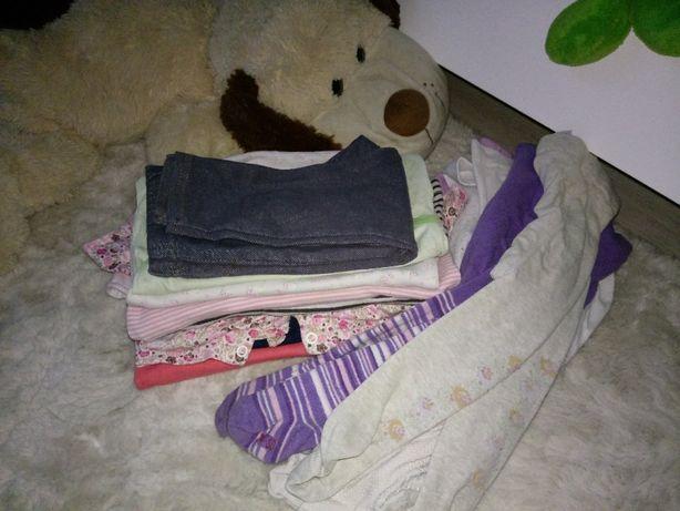 Paka zestaw ubrań dla dziewczynki rozmiar 74
