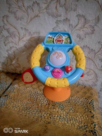 Детский авто тренажёрный руль на присоске играшка в подарок