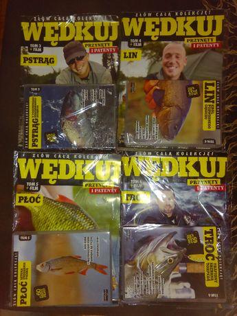 czasopisma wędkuj+płyty-4 szt.