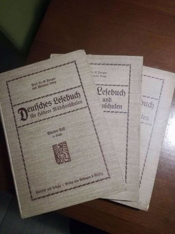 Deutsches Lesebuch Niemiecki Reader cz. 5. 6. 8 z 1910r.