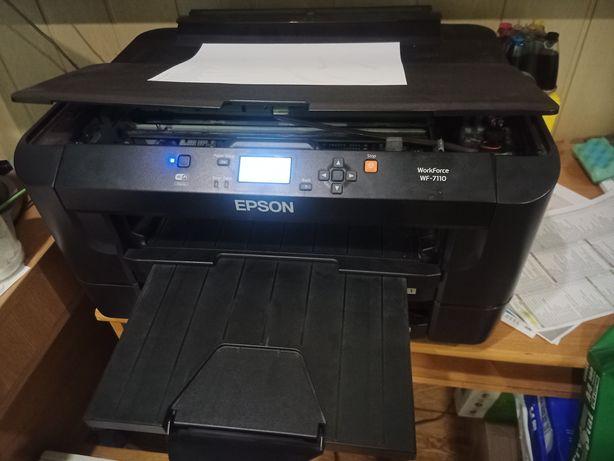 Принтер Epson wf-7110. A3+, wi-fi с СНПЧ