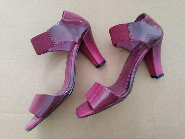Nowe sandałki NEXT amarantowe 36