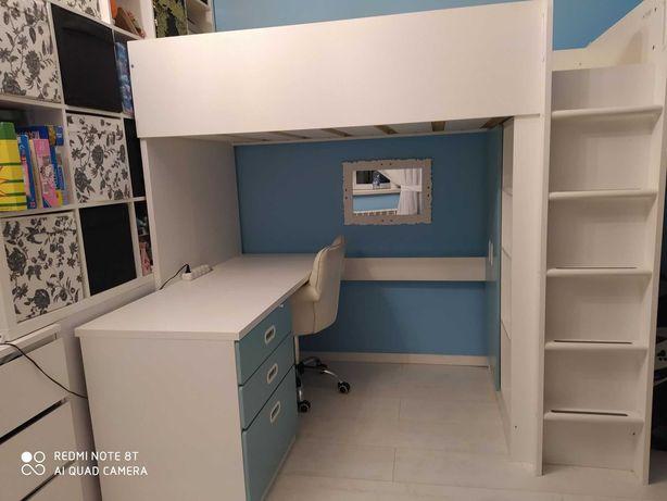 Ikea Stuva łóżko piętrowe na antresoli szafa biurko + GRATIS