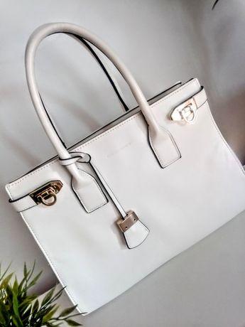 Biała duża torba do ręki