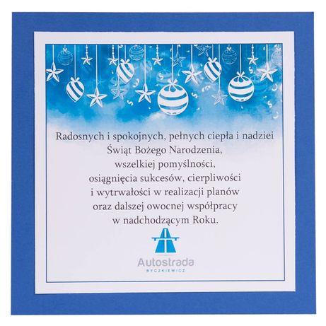 biznesowe kartki bożonarodzeniowe dla firm z logo