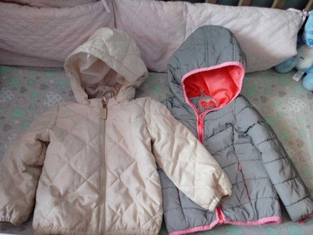 Pikowana kurtka H&M 92 cm plus gratis kurtka cool club