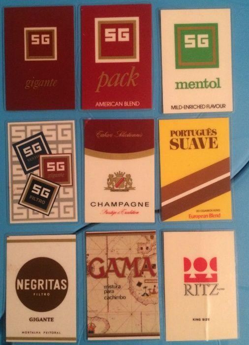Calendários Bolso de 1971 a 1980 - Tabaqueira Correios Fuji Cães Gatos Évora - imagem 1