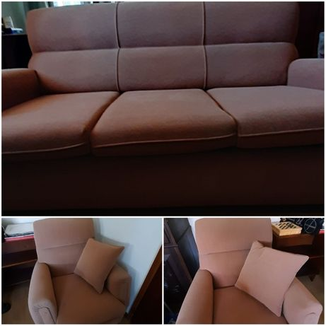 Sofá cama com 2 cadeirões