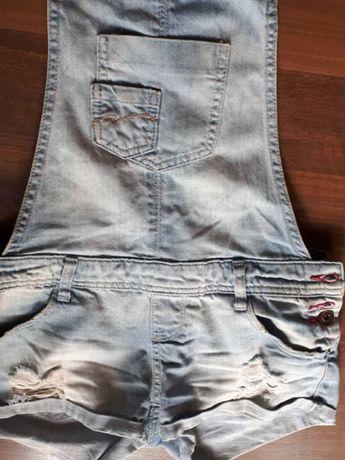 женский джинсовый комбинезон. Фирма TALLY WEIJL,размер 34-36, XS-S