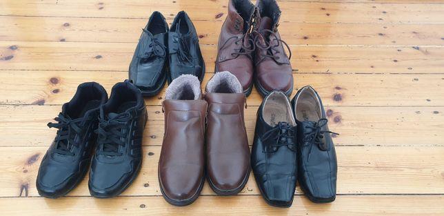 5 par butów męskich