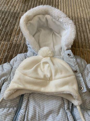 Chicco шапка белая