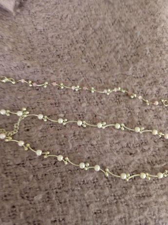 Komplet biżuterii, perełki b.ładny, delikatny nowy
