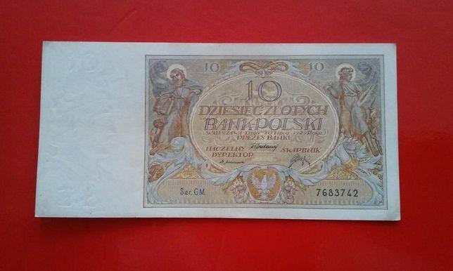"""Sprzedam Banknot """" 10 Złotych """" - Rok 1929 Idealny Stan !!!"""