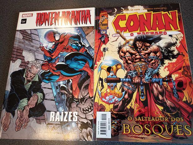 """""""Conan - O salteador dos bosques"""" e  """"Homem aranha - Raízes"""""""