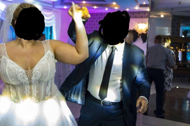Piękna Suknia Ślubna rozmiar 50 (48), plus size! Efekt wow!