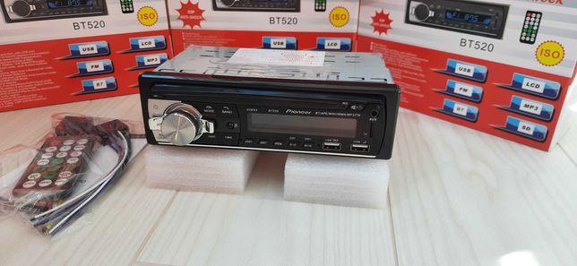 Автомагнитола Pioneer 1din однодиновая 2 usb с блютуз BT радиоприёмник