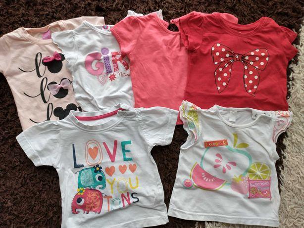 Paka zestaw koszulki 74 krótki rękaw bluzki