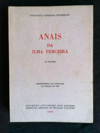 """""""Anais da Ilha Terceira"""" Francisco Ferreira Drummond"""