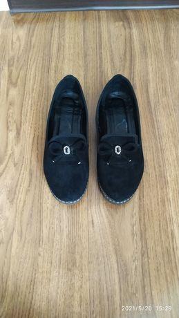 Туфли замшевые,38 размер
