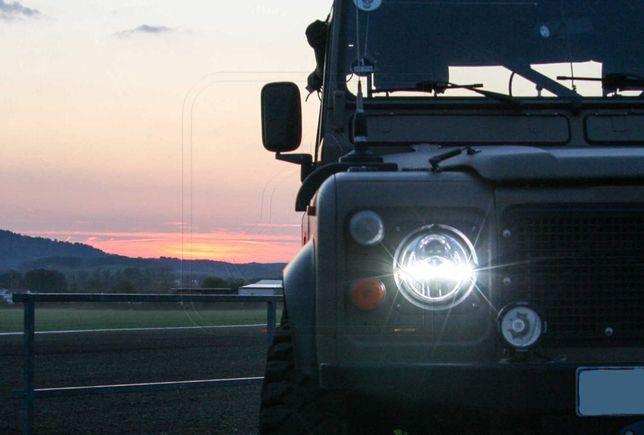 Ópticas Farois 7 polegadas full LED Land Rover defender range classic