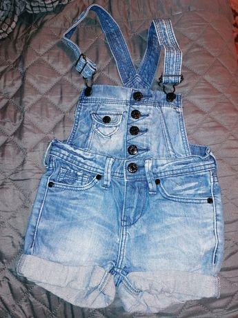 Ogrodniczki jeans dżins rozmiar 92