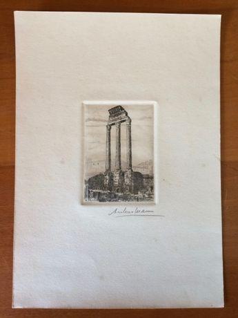 Gravura de ruína romana - A. MANNA