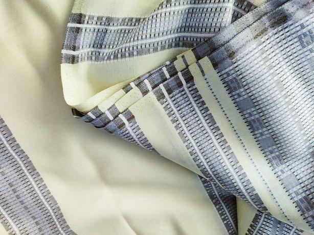 Отрез льняной ткани для штор